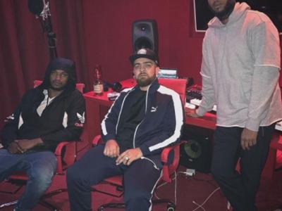 Jayh in de studio met DJ A-Boom & Kalibwoy